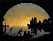 Karl friedrich schinkel The Banks of the Spree near Stralau oil painting picture wholesale