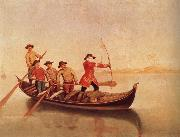 LONGHI, Pietro Duck Shoot on the Lagoon oil painting picture wholesale