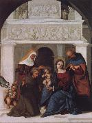 Lodovico Mazzolino The Holy Family with Saints John the Baptist,Elizabeth and Francis oil painting picture wholesale