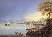 Louis Bleuler Seen city of Neuchatel oil painting picture wholesale