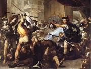 Luca  Giordano Perseus Turning Phineas and his followers to stone oil painting picture wholesale