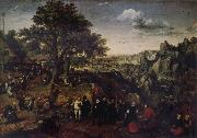 Lucas van Valckenborch Landscape with Village Festival oil painting picture wholesale