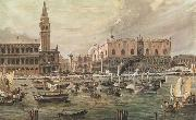 Luigi Querena The Arrival in Venice of Napoleon-s Troops oil painting picture wholesale