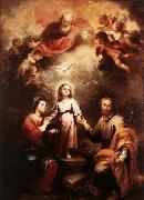 MURILLO, Bartolome Esteban The Two Trinities oil painting picture wholesale