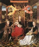 Master of Hoogstraeten Madonna and Child with Sts Catherine and Barbara oil painting picture wholesale