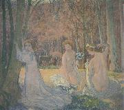 Maurice Denis Spring Landscape with Figures oil painting picture wholesale
