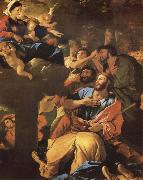 Nicolas Poussin The Virgin of the Pilar and its aparicion to San Diego of Large oil painting picture wholesale