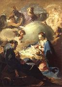 PELLEGRINI, Giovanni Antonio The Nativity with God the Father and the Holy Ghost oil painting picture wholesale