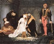Paul Delaroche The execution of Lady Jane Grey oil painting picture wholesale