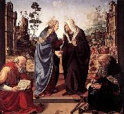 Piero di Cosimo The Visitation with Sts Nicholas and Anthony oil painting picture wholesale