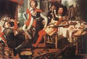 Pieter Aertsen Peasants by the Hearth oil painting picture wholesale