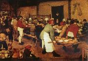 Pieter Bruegel Farmer wedding oil painting