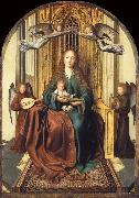 Quentin Massys The Virgin and Child Enthroned,with four Angels oil painting picture wholesale