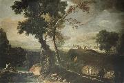 RICCI, Marco Landscape with Washerwomen oil painting picture wholesale