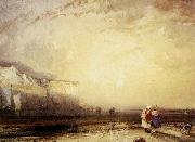 Richard Parkes Bonington Sunset in the Pays de Caux oil painting picture wholesale