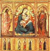 Taddeo di Bartolo Virgin and Child with St John the Baptist and St Andrew oil painting artist