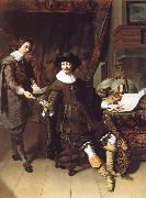 Thomas De Keyser Portrait of Constatijn Huygens and his clerk oil painting picture wholesale