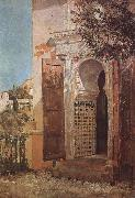 Tom roberts Moorish Doorway,Granada oil painting picture wholesale