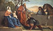 Vincenzo Catena A Muslim Warrior Adoring the Infant Christ and the Virgin oil