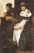 Wilhelm Leibl The Women in Church oil painting picture wholesale