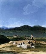 Wilhelm von Kobell View of Lake Tegern oil painting picture wholesale