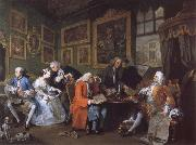 William Hogarth Marriage a la Mode i The Marriage Settlement oil painting picture wholesale