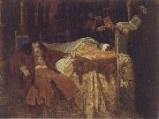 Wjatscheslaw Grigorjewitsch Schwarz Ivan the Terrible Meditating at the Deathbed of his son Ivan oil painting picture wholesale