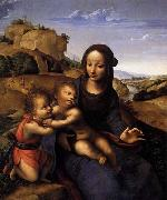 YANEZ DE LA ALMEDINA, Fernando Madonna and Child with Infant St John oil painting artist