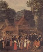 joris Hoefnagel A Fete at Bermondsey oil painting picture wholesale