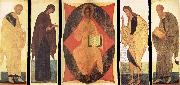 unknow artist Andrei Rublev and Assistants,Deisis,Christ in Majesty Among the Cherubins oil painting picture wholesale