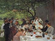 Albert Auguste Fourie The wedding meal in Yport oil painting picture wholesale
