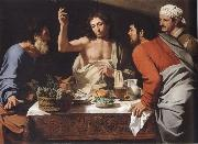 CAVAROZZI, Bartolomeo The meal in Emmaus oil painting artist