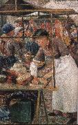 Camile Pissarro the butcher woman oil painting