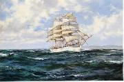 Dennis Miller Bunker Seascape, boats, ships and warships. 09 oil painting artist