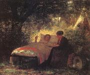 Eastman Johnson The Letter Home oil