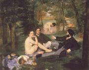 Edouard Manet The Fruhstuck in the free oil painting picture wholesale