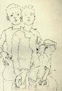 Egon Schiele Three Street Urchins oil painting picture wholesale