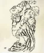 Egon Schiele Aunt and Nephew oil painting picture wholesale