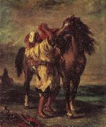 Eugene Delacroix Moroccan in the Sattein of its horse oil painting picture wholesale