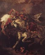 Eugene Delacroix The battle of the Giaurs with the Pascha, after Byrons poem The Giaour oil painting picture wholesale
