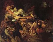Eugene Delacroix Stgudie to the death of the Sardanapal oil painting picture wholesale