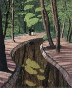 Felix Vallotton Undergrowth,Bois de Boulogne oil painting picture wholesale
