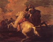 Francesco Simonini Two battle ends horseman oil painting picture wholesale