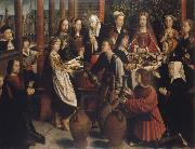 Gerard David The wedding to canons oil painting artist