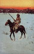 Henry F. Farny Indian Returning from the Hunt oil painting picture wholesale