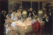 Jules-Alexandre Grun The end of the supper oil painting picture wholesale