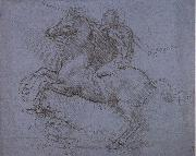 LEONARDO da Vinci Study fur the Sforza monument oil painting picture wholesale