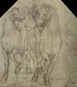 Leonardo  Da Vinci Horses with horsemen oil painting picture wholesale