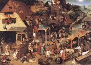Pieter Bruegel Museums national the niederlandischen proverb oil painting picture wholesale