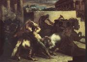 Theodore   Gericault The race of the wild horses oil painting picture wholesale